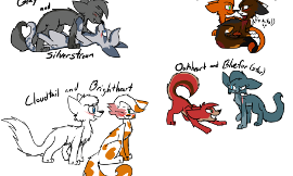 Which pair of warrior cats are best together?